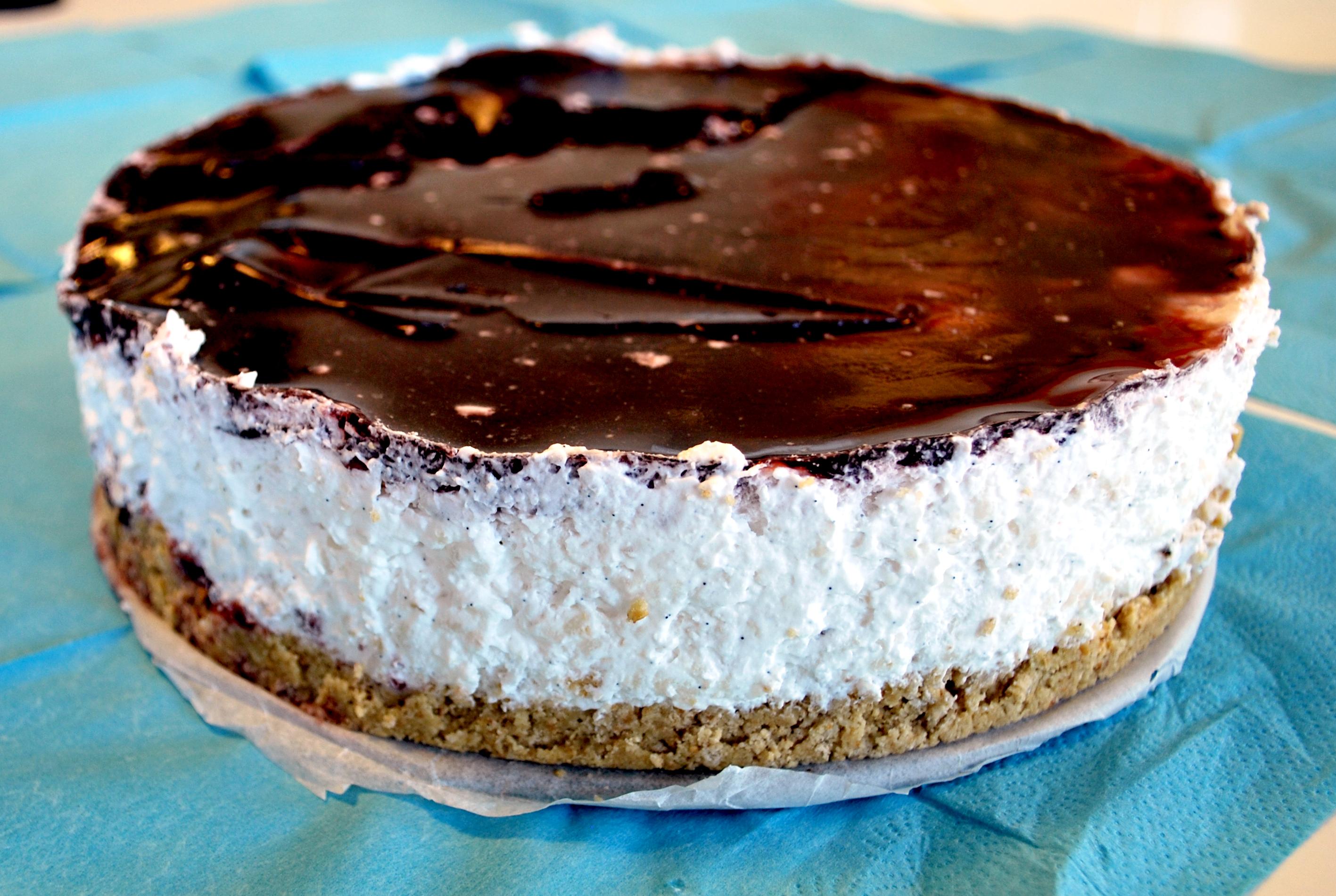 Mælkefri ris á l'amande- cheesecake