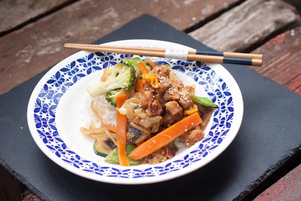 Marinerede sojabidder til wok