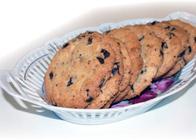 Chokolade-mandel cookies