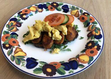 Smørrebrød – Chourico med Easy Egg